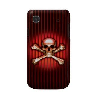 赤い頭骨のSamsungギャラクシー箱 casematecase
