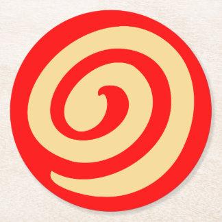 赤い風車のクッキー ラウンドペーパーコースター