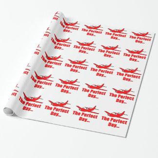 赤い飛行機 ラッピングペーパー
