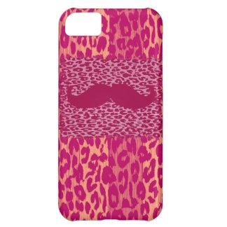 赤い髭およびヒョウのプリント iPhone5Cケース