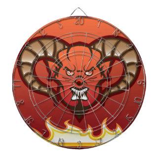 赤い鬼のベクトル悪魔 ダーツボード