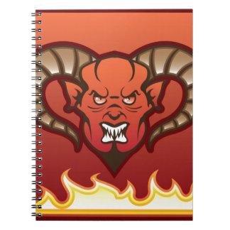 赤い鬼のベクトル悪魔 ノートブック