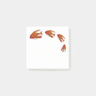 赤い魚のアクアリウム ポストイット