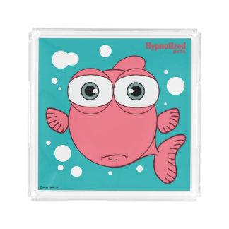 赤い魚のカスタムで小さい香水の皿 トレー