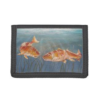赤い魚の財布