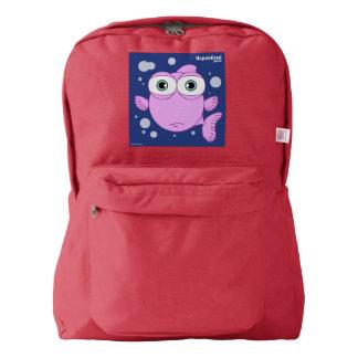 赤い魚の(ピンクの)バックパック AMERICAN APPAREL™バックパック