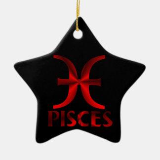 赤い魚類の占星術の記号 セラミックオーナメント