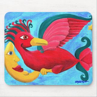 赤い鳥および月 マウスパッド