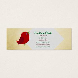 赤い鳥の名刺 スキニー名刺
