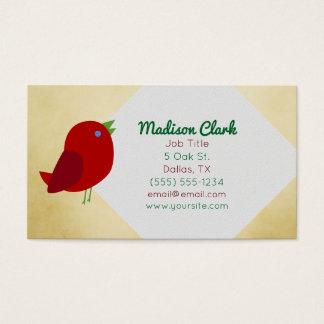 赤い鳥の名刺 名刺
