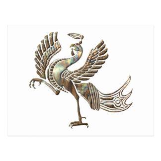 赤い鳥の熱くする銅 ポストカード