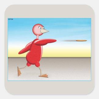 赤い鳥 スクエアシール