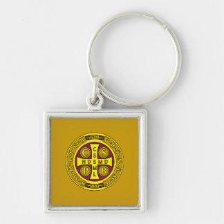 赤い黄色のゆとりStベネディクトメダル キーホルダー