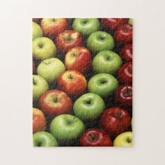 赤い黄色緑のりんご ジグソーパズル