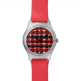 赤い黒によって編まれる夢みるよう 腕時計