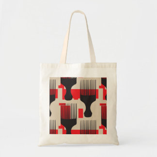 赤い黒髪の櫛のアフリカの一突き トートバッグ
