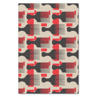 赤い黒髪の櫛のアフリカの一突き 薄葉紙