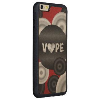 赤い黒3D Vape CarvedメープルiPhone 6 Plusバンパーケース
