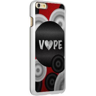 赤い黒3D Vape Incipio Feather Shine iPhone 6 Plusケース