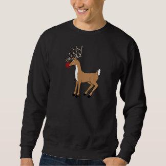赤い鼻のトナカイのクリスマスのTシャツ スウェットシャツ