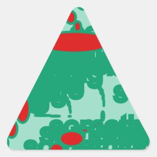 赤い1123抽象美術を緑化すれば 三角形シール