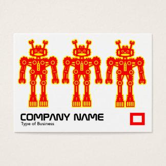 赤い3および黄色いロボット 名刺