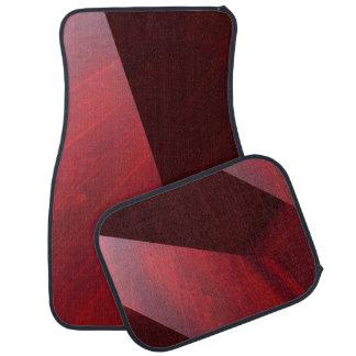 赤い3Dデザイン カーマット