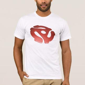 赤い3D 45 RPMのアダプター Tシャツ