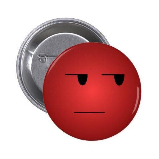 赤い|ええ|権利|スマイリー ピンバッジ