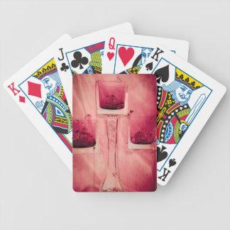 """""""赤い""""コレクションの元の写真撮影bの3つの立方体 バイスクルトランプ"""