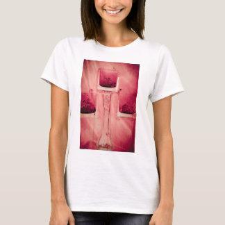 """""""赤い""""コレクションの元の写真撮影bの3つの立方体 tシャツ"""