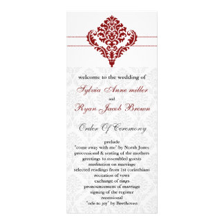 赤い|ダマスク織|結婚|プログラム