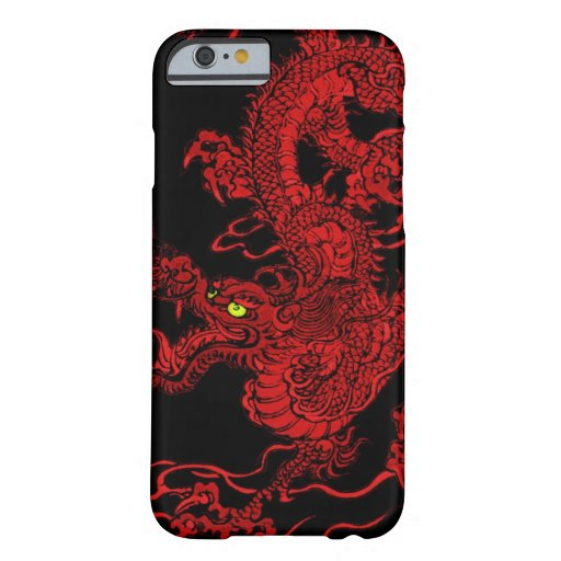赤い|ドラゴン スリム iPhone 6 ケース