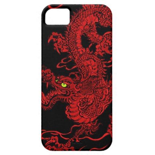 赤い|ドラゴン iPhone 5 Case-Mate ケース
