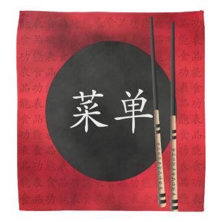 """赤い""""メニュー"""" shopsticksのバンダナ バンダナ"""