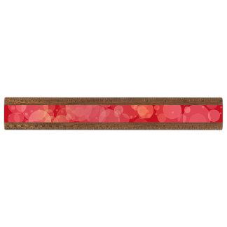 赤い《写真》ぼけ味の円のグリッターの定規 くるみ 定規
