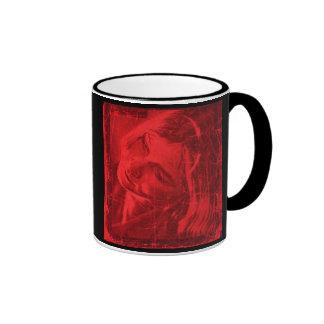 赤い 反射 マグ II - カスタマイズ可能 リンガーマグカップ