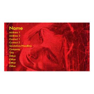 赤い|反射|芸術家|ビジネス|カード 名刺テンプレート