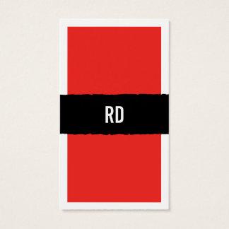 赤い 名刺