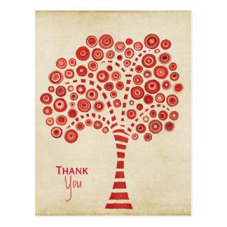 赤い|木|感謝していして下さい||感謝|ノート|カード