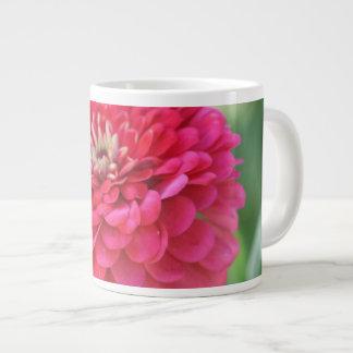 赤い《植物》百日草 ジャンボコーヒーマグカップ