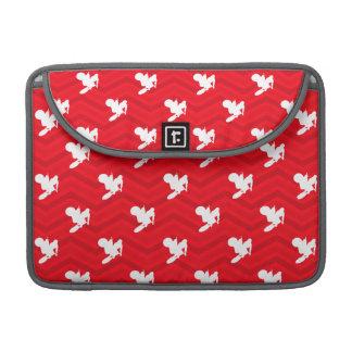 、赤い、深紅シェブロンのモトクロス、土のバイク白い MacBook PROスリーブ