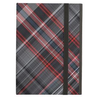 赤い、白黒格子縞 iPad AIRケース