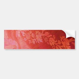 赤い 花柄 優雅 バンパー ステッカー - カスタマイズ可能 バンパーステッカー