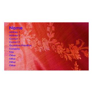 赤い|花柄|優雅|芸術家|ビジネス|カード 名刺テンプレート