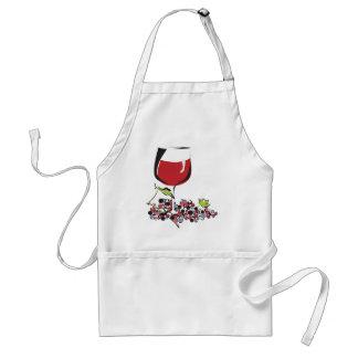 赤い、赤ワイン スタンダードエプロン