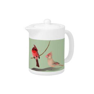 赤い(鳥)ショウジョウコウカンチョウの冬の鳥