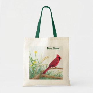 赤い(鳥)ショウジョウコウカンチョウ-カスタマイズ可能なトートバック トートバッグ