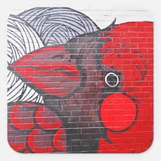 赤い(鳥)ショウジョウコウカンチョウ スクエアシール