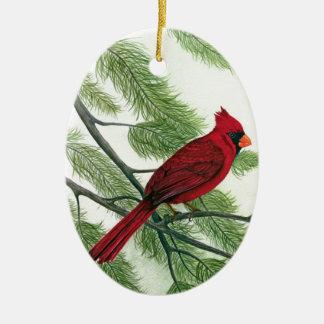 赤い(鳥)ショウジョウコウカンチョウ セラミックオーナメント